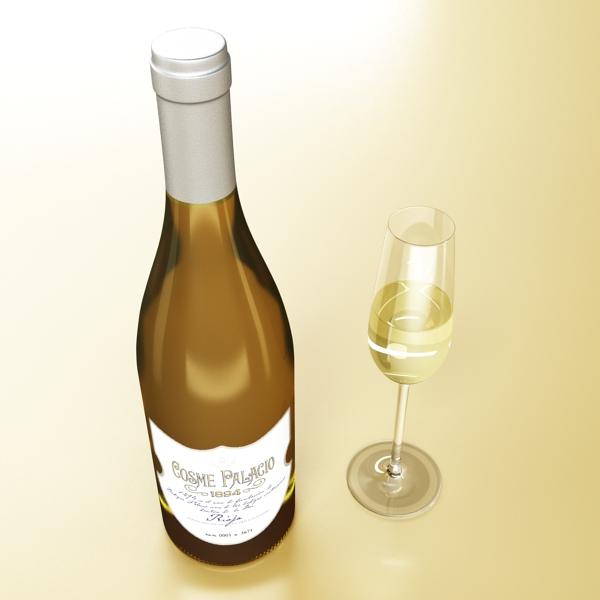 дарс өлгүүр 5, цагаан дарсны лонх 3d загвар 3ds хамгийн их fbx obj 146173