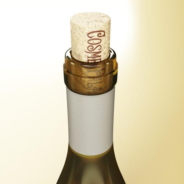 дарс өлгүүр 5, цагаан дарсны лонх 3d загвар 3ds хамгийн их fbx obj 146176