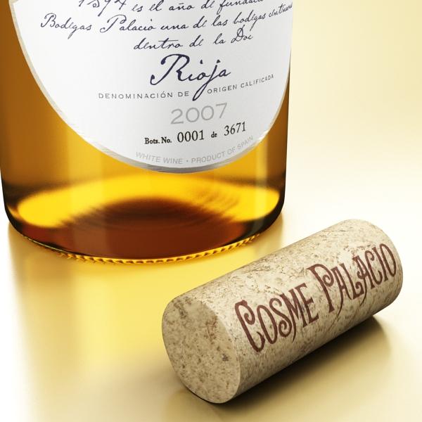 дарс өлгүүр 5, цагаан дарсны лонх 3d загвар 3ds хамгийн их fbx obj 146178