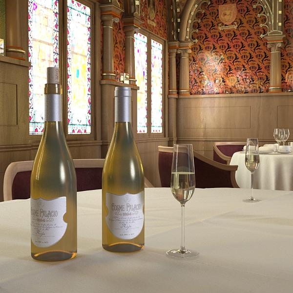 дарс өлгүүр 5, цагаан дарсны лонх 3d загвар 3ds хамгийн их fbx obj 146180