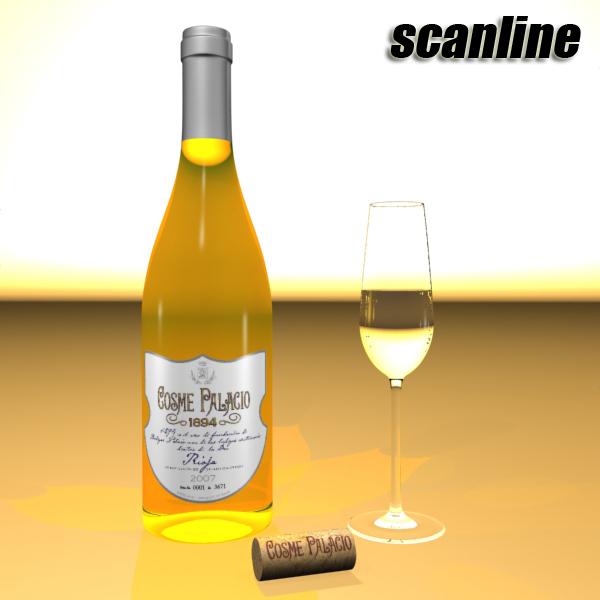дарс өлгүүр 5, цагаан дарсны лонх 3d загвар 3ds хамгийн их fbx obj 146181