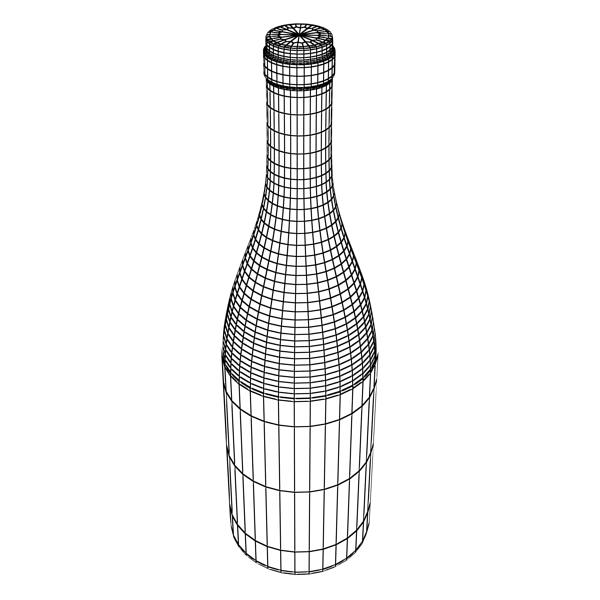 дарс өлгүүр 5, цагаан дарсны лонх 3d загвар 3ds хамгийн их fbx obj 146182