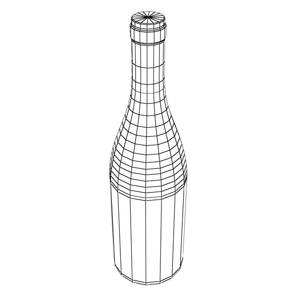 дарс өлгүүр 5, цагаан дарсны лонх 3d загвар 3ds хамгийн их fbx obj 146183