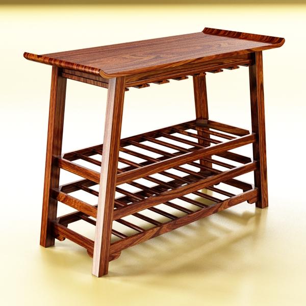 wine table rack 2. 3d model 3ds max fbx obj 146853
