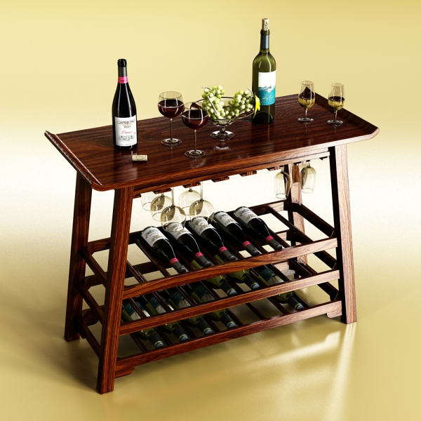 wine table rack 2. 3d model 3ds max fbx obj 146861