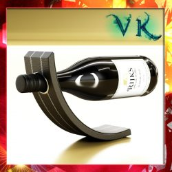 Wine Rack 4 and Red Wine Bottle ( 247.68KB jpg by VKModels )