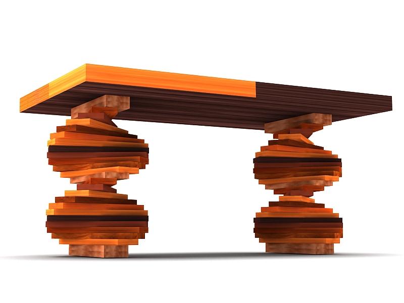 wood parquet table 3d model max 147795