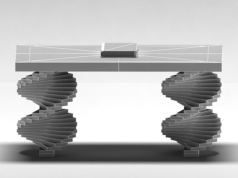 wood parquet table 3d model max 147799