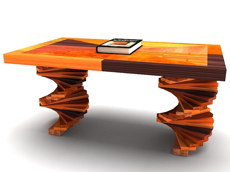 Wood parquet table 3d model buy wood parquet table 3d for Table design 3d model
