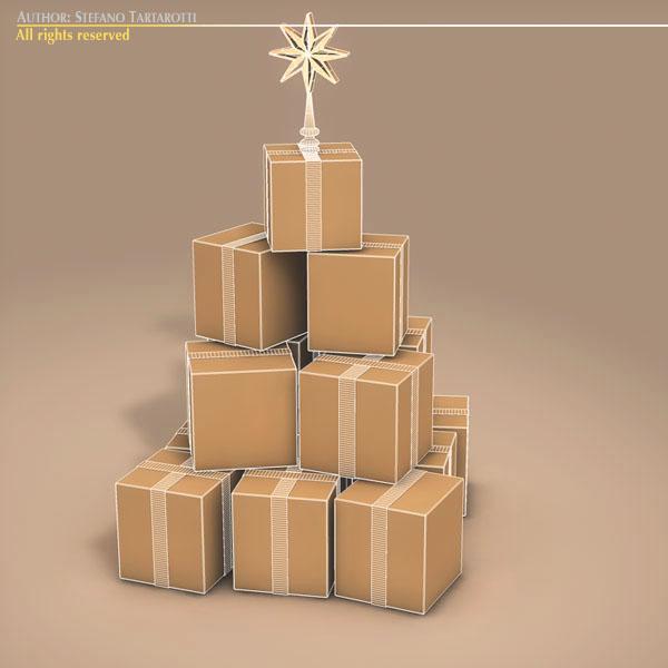xmas gift box tree 3d model 3ds dxf fbx c4d dae ma mb obj 133376