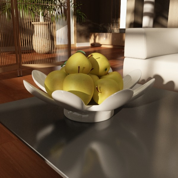 yellow apples in bowl 3d model 3ds max fbx obj 132742