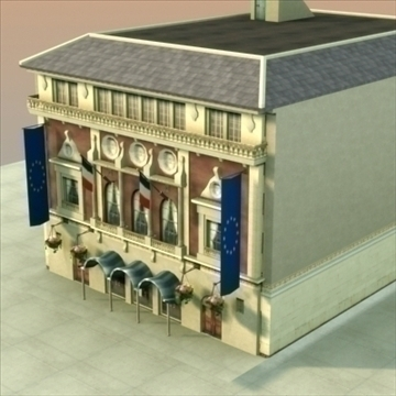 french town hall 3d model 3ds max fbx lwo ma mb hrc xsi texture obj 99925