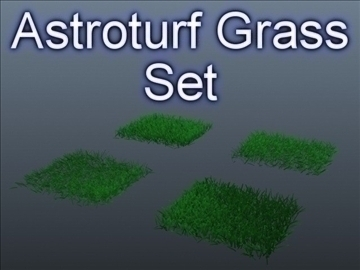 astroturf grass set 001 3d model 3ds max obj 103048