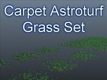 astroturf grass set 002 3d model 3ds max obj 103087