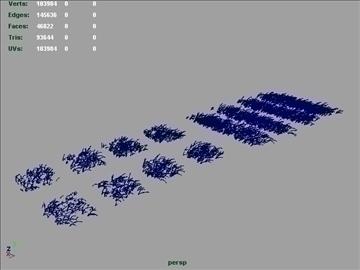 astroturf grass set 002 3d model 3ds max obj 103093
