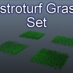 Astroturf Grass Set 001 ( 58.42KB jpg by Asephei )