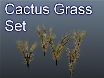 cactus grass set 001 3d model 3ds max obj 103053