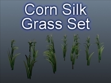 corn silk grass set 001 3d model 3ds max obj 103059