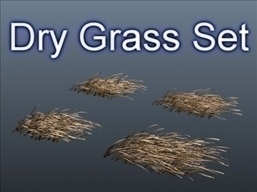 dry grass set 001 3d model 3ds max obj 103104