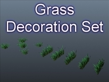 grass decor set 001 3d model 3ds max obj 103098