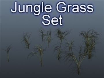 jungle grass set 001 3d model 3ds max obj 103109