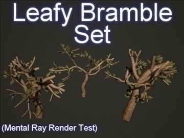 leafy bramble set 001 3d model 3ds max obj 103175