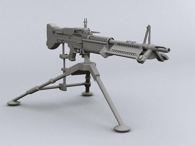 m60 machine gun 3d model