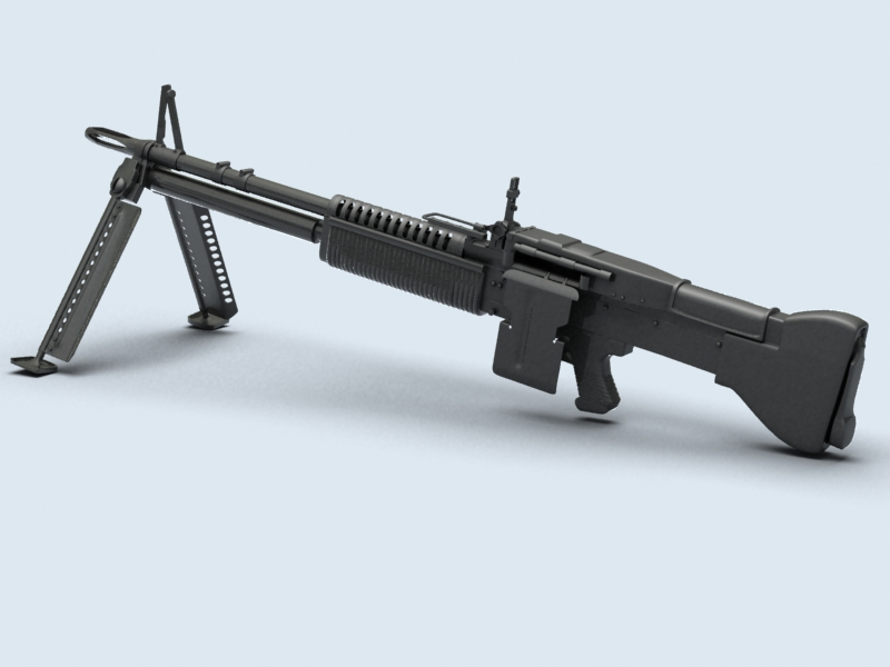 machine gun m60 3d model 3ds max fbx obj 146395