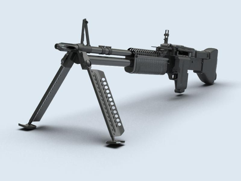 machine gun m60 3d model 3ds max fbx obj 146396