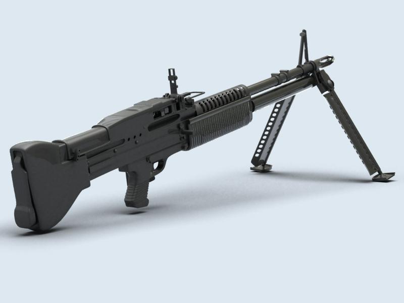 machine gun m60 3d model 3ds max fbx obj 146399