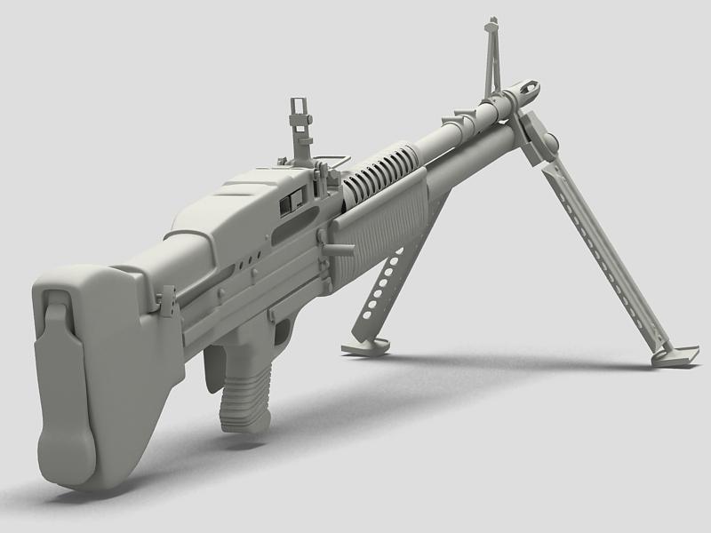 machine gun m60 3d model 3ds max fbx obj 146402