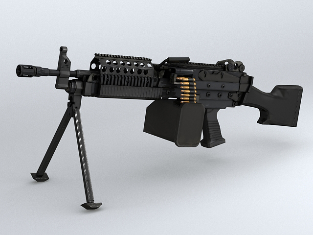 mk46 machine gun 3d model 3ds max obj 122574