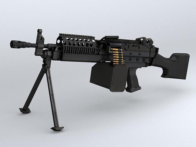 mk46 strojnica 3d model 3ds max obj 122574