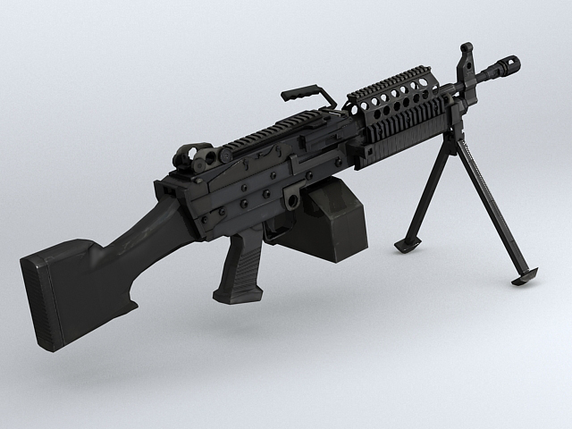 mk46 machine gun 3d model 3ds max obj 122575