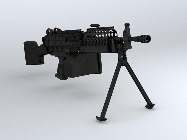 mk46 machine gun 3d model 3ds max obj 122576