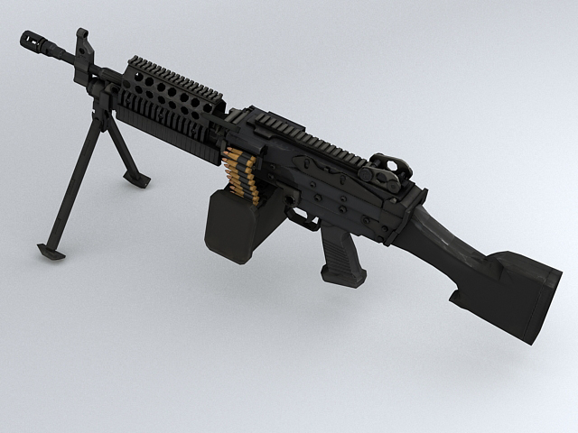 mk46 machine gun 3d model 3ds max obj 122577