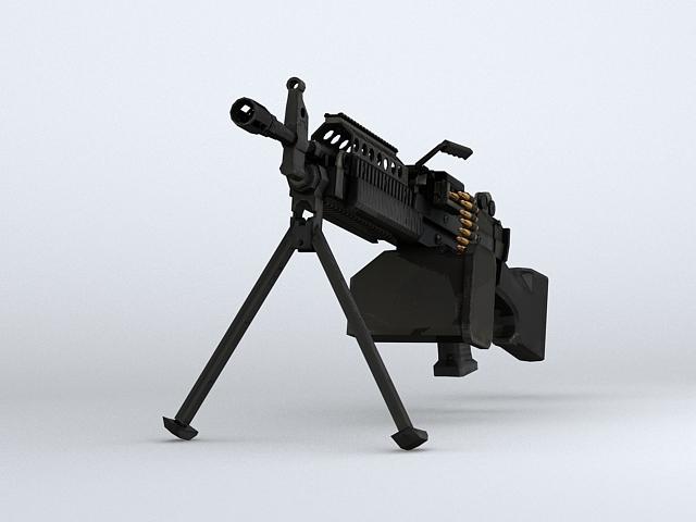 mk46 machine gun 3d model 3ds max obj 122578