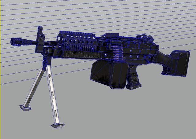 mk46 machine gun 3d model 3ds max obj 122579