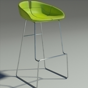 fjord bar stool high green 3d model 3ds max dwg fbx obj 88550