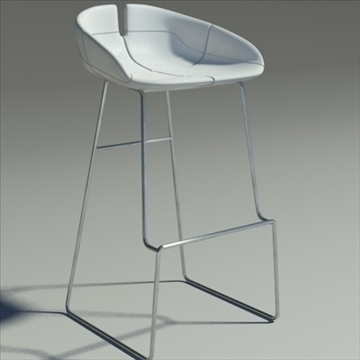 fjord bar stool low white 3d model 3ds max dwg fbx obj 88560