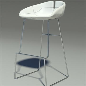 fjord bar stool low white 3d model 3ds max dwg fbx obj 88561