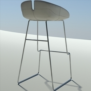 fjord bar stool low white 3d model 3ds max dwg fbx obj 88562