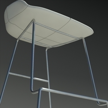 fjord bar stool low white 3d model 3ds max dwg fbx obj 88564
