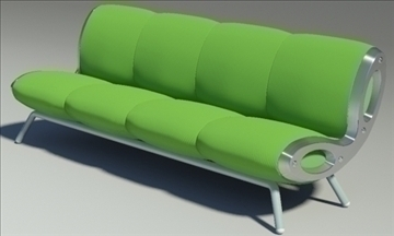 gluon sofa 4 pillow 3d model max fbx obj 91200