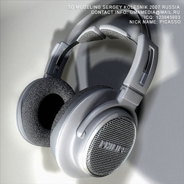head phones philips 3d model max 80947