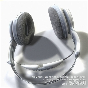 head phones philips 3d model max 80949