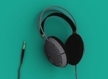 headphones 3d model max 77285