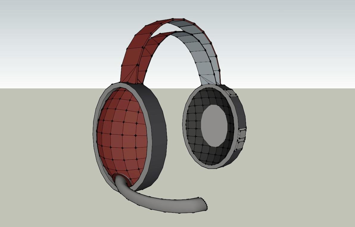 headset 3d model 3ds dxf dwg skp obj 118531