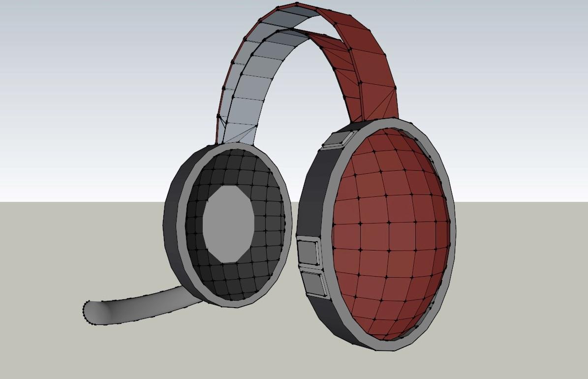 headset 3d model 3ds dxf dwg skp obj 118532