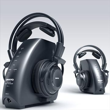 onkyo mhp-a1 wireless headphones 3d model 3ds max fbx obj 81281